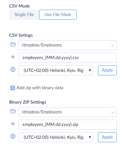 Mask File with Zip