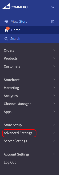 Advanced Settings in BigCommerce